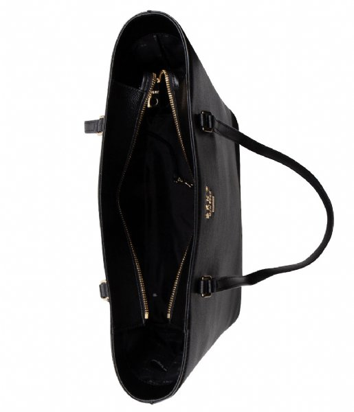 Whitney Large Tote Pebble black gold DKNY | The Little Green Bag