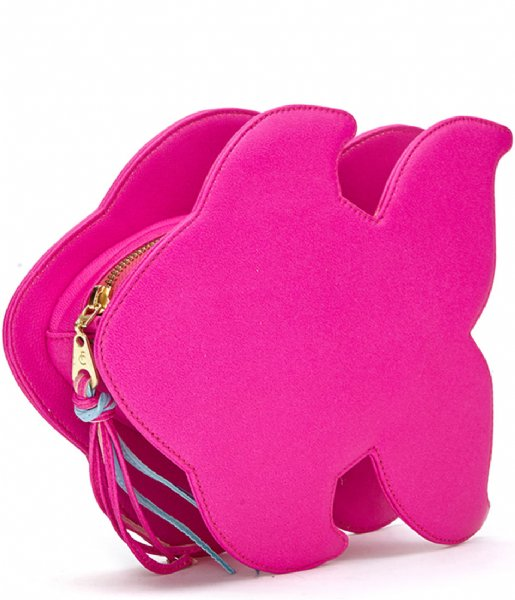 Fabienne Chapot  Blue Fish Clutch pink fluor/light blue
