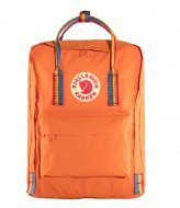 Fjallraven Kanken Rainbow burnt orange rainbow pattern (212-907)
