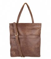 Fred de la Bretoniere Shopper Medium Hand Buffed brown