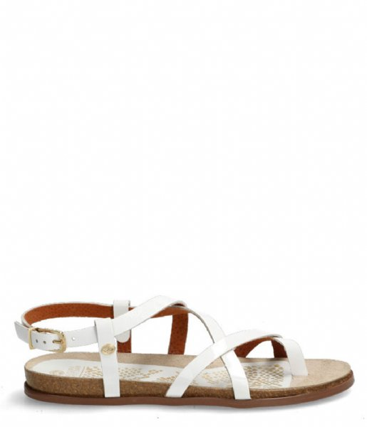 Fred de la Bretoniere  Sandal With Cork Footbed white