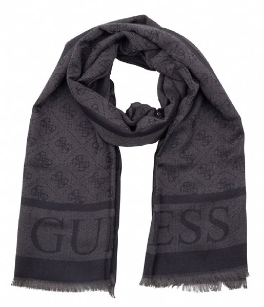 Logo Lux Scarf coal Guess | The Little Green Bag