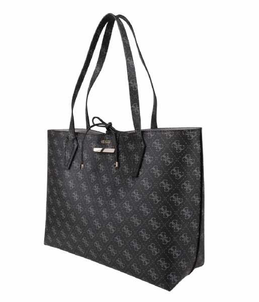 Bobbi Inside Out Tote coal logo grey Guess | The Little