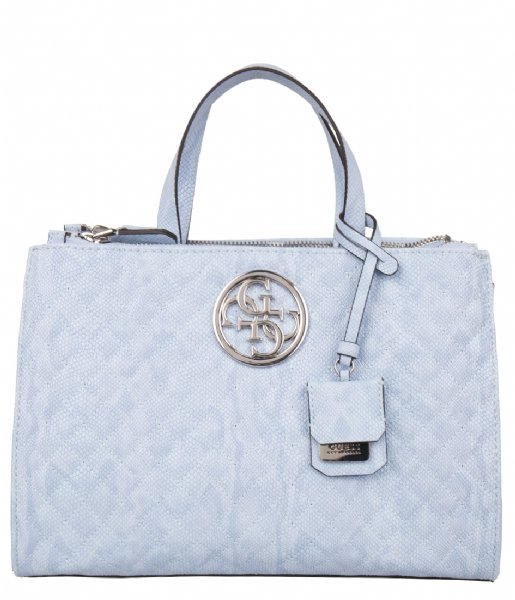 G Lux Status Satchel Sky Guess | The Little Green Bag