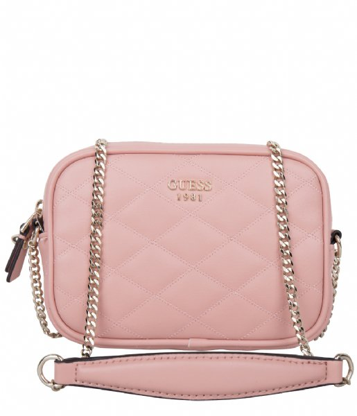 4a8ada25f5 Penelope Mini Crossbody Top Zip Rose Guess