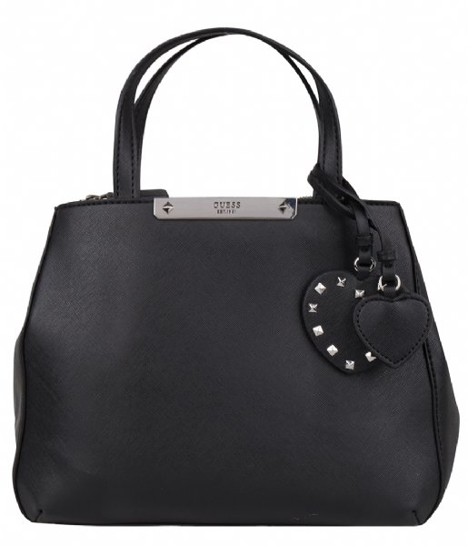 Britta Small Society Satchel Black Guess | The Little Green Bag