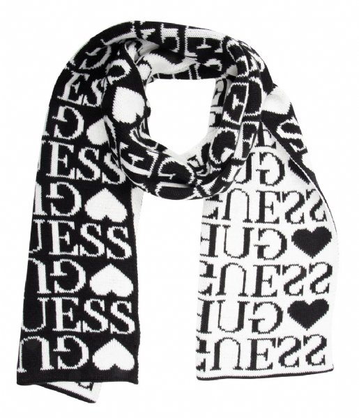 Scarf black Guess | The Little Green Bag