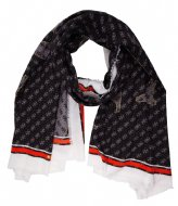 Guess Jensen Printed Scarf 100X200 Coal