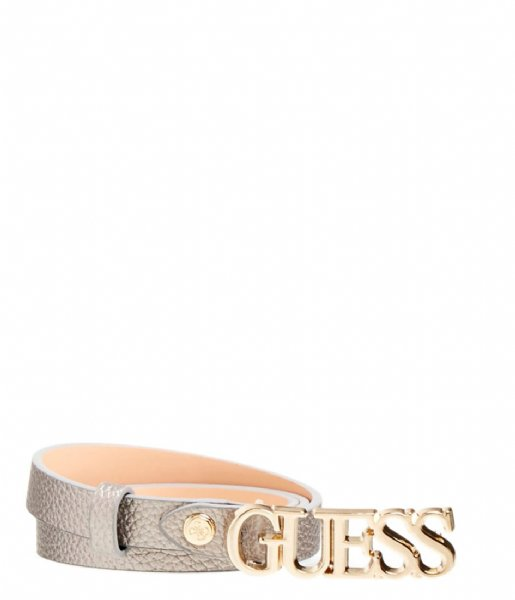 Guess  Uptown Chic Adjustable Pant Belt pewter