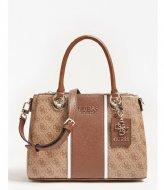 Guess Cathleen 3 Compartment Satchel brown