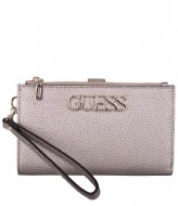 Guess Uptown Chic Slg Dbl Zip Orgnzr pewter
