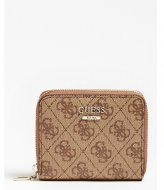 Guess Cathleen Slg Small Zip Around brown