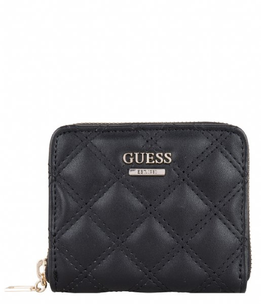 Guess  Cessily Slg Small Zip Around Black