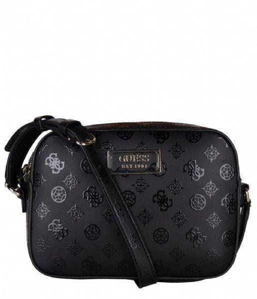Kamryn Crossbody Top Zip black Guess | The Little Green Bag