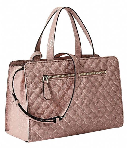 Gioia Small Girlfriend Satchel rose Guess | The Little Green Bag