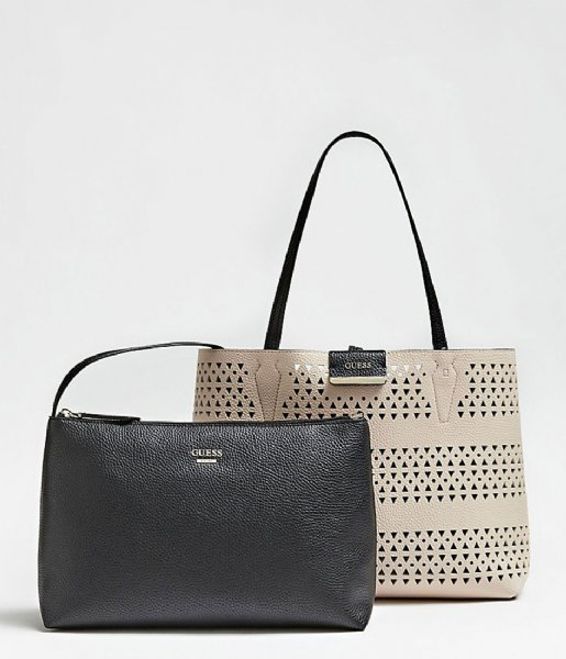 Bobbi Inside Out Tote black stone Guess | The Little Green Bag