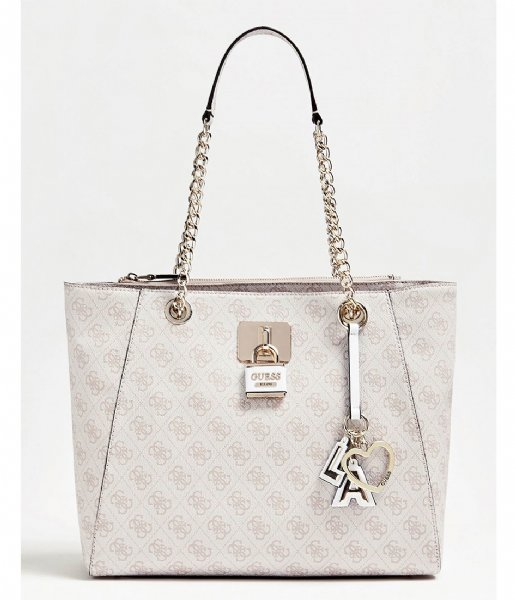 Downtown Cool Tote stone Guess | The Little Green Bag