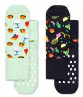 Happy Socks Kids Anti-Slip 2 Pack Food Socks food (0100)