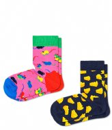 Happy Socks Kids 2 Pack Mouse Socks mouse (0100)
