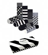 Happy Socks 4-Pack Black & White Gift Box black & white (9100)