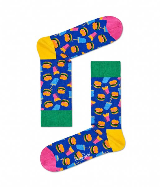 Happy Socks  SMU 2-pack Hamburger Gift Box hamburger (6000)