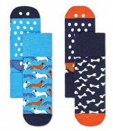 Happy Socks 2-Pack Kids Dog Anti-Slip Socks dog (6300)