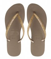 Havaianas Flipflops Slim Glitter rose gold colored (3581)