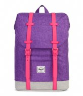 Herschel Supply Co. Retreat Youth deep lavender crosshatch (02206)