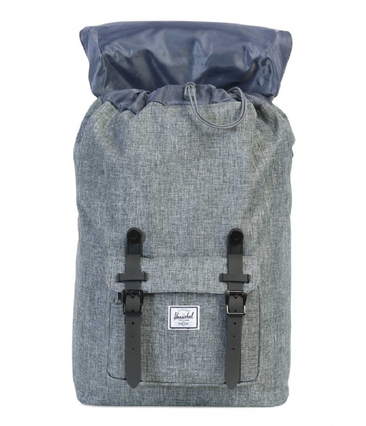 Herschel Supply Co.  Little America Mid Volume 13 Inch raven crosshatch/black rubber (00919)