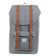 Herschel Supply Co. Little America Mid Volume 13 Inch grey & tan PU