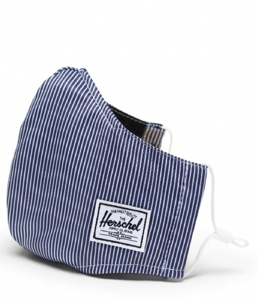 Herschel Supply Co. Mondkapje Classic Fitted Face Mask Peacoat Engineered Stripe (04927)