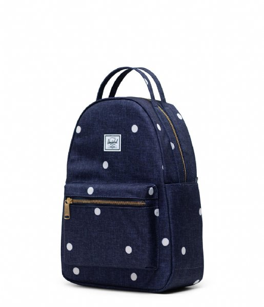 Herschel Supply Co.  Nova Small Polka Dot Crosshatch Peacoat (03886)