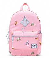 Herschel Supply Co. Heritage Kids Candy Pink Circus Animals (04069)