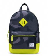 Herschel Supply Co. Heritage Kids Night Camo Lime Punch (04087)