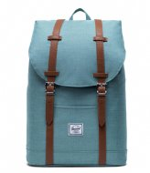 Herschel Supply Co. Retreat Mid Volume 13 Inch Oil Blue Crosshatch (04088)