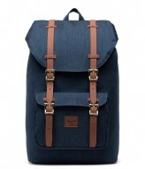 Herschel Supply Co. Little America Mid-Volume 13 Inch indigo denim crosshatch (03537)