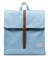 Herschel Supply Co. City Mid-Volume Light Denim Crosshatch (4690)