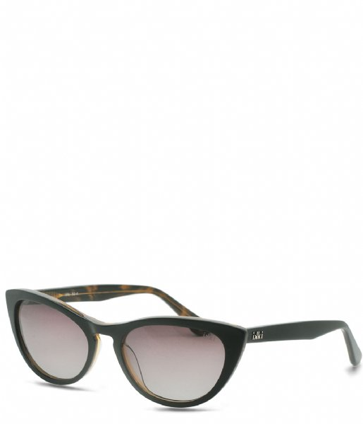 IKKI  Sunglasses Lilly black gold colored gradient brown (50-4)