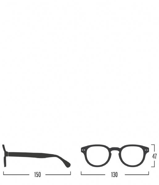 Izipizi  #C Reading Glasses light tortoise