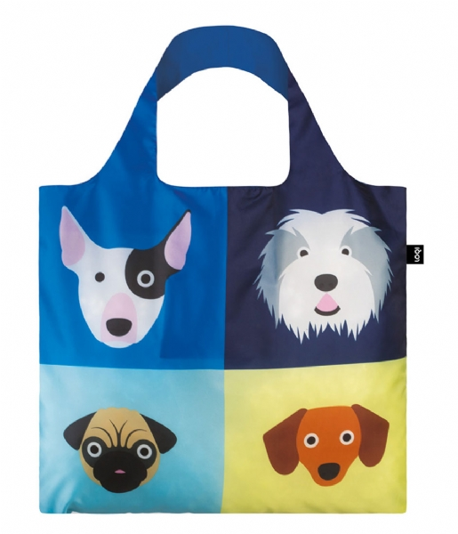 LOQI  Foldable Bag Stephen Cheetham dogs