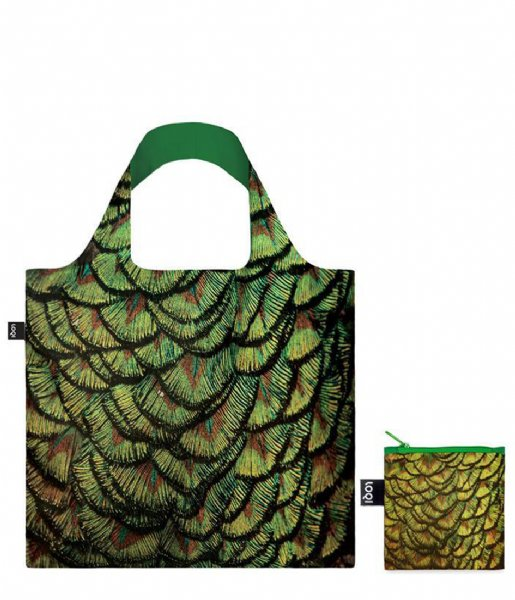 LOQI  Bag National Geographic indian peafowl