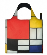 LOQI Foldable Bag Museum Collection composition with red yellow blue and black
