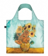 LOQI Foldable Bag Museum Collection vase with sunflowers