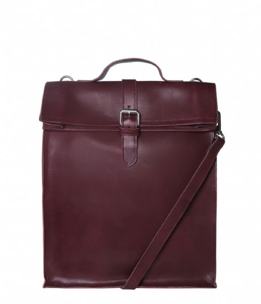 Laauw  Nine Streets Laptop Bag 15 Inch bordeaux