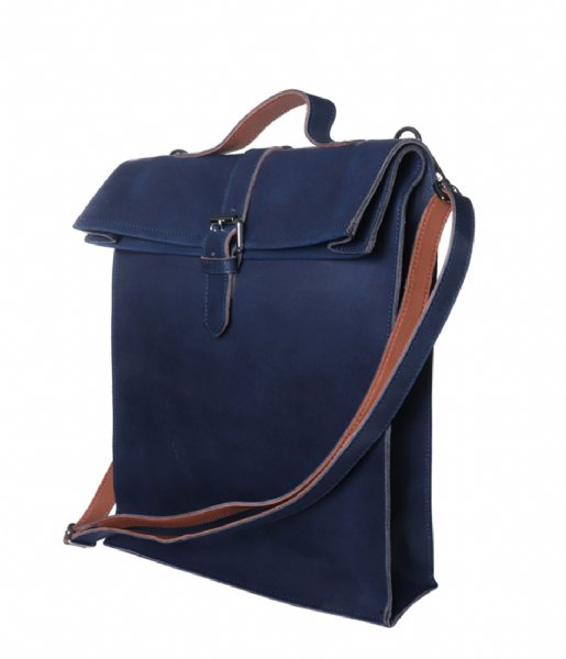 Laauw  Nine Streets Laptop Bag 15 Inch navy