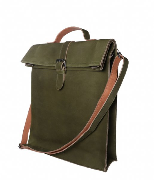 Laauw  Nine Streets Laptop Bag 15 Inch olive