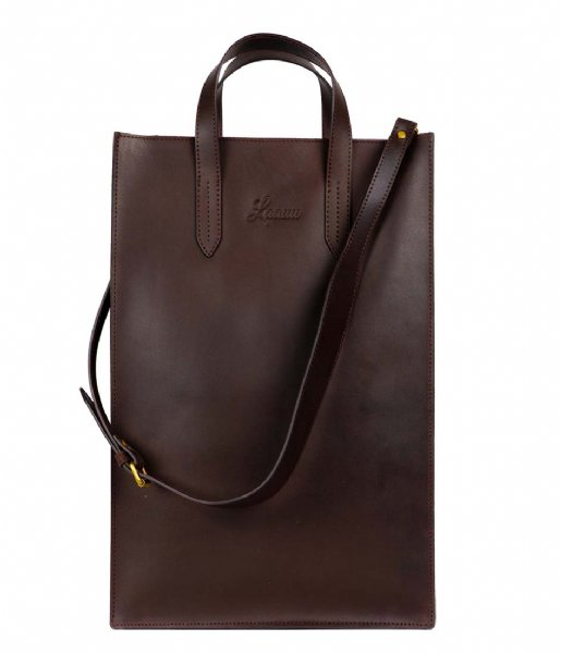 Laauw  Gijs Bag 15.6 Inch dark brown
