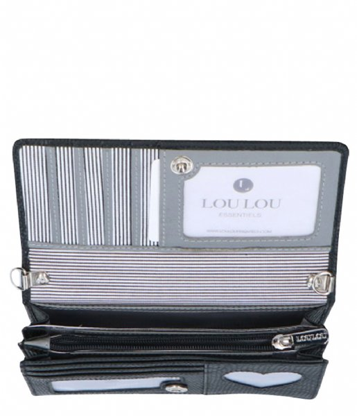 LouLou Essentiels  Bag Lovely Lizard Silver Colored A9-7 black