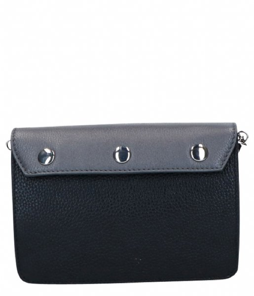 LouLou Essentiels Clutch Cover Beau Veau Silver Colored Pewter