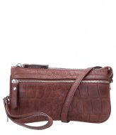 LouLou Essentiels Crossbody Clutch Vintage Croco Dark Brown (20)